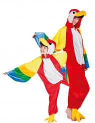 Papegaaien duo kostuums ouder en kind