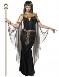 Zwart en goudkleurig Cleopatra kostuum voor vrouwen