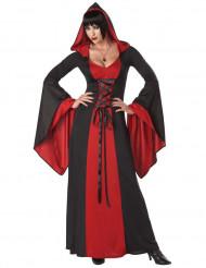 Griezelig heksen kostuum met capuchon voor vrouwen