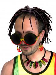 Hippie rasta bril voor volwassenen