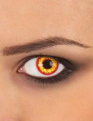 Contactlenzen geel en rood voor volwassenen