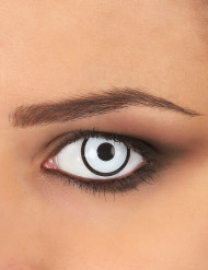 Witte en zwarte fantasy contactlenzen