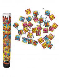 Confetti kanon 40 ans
