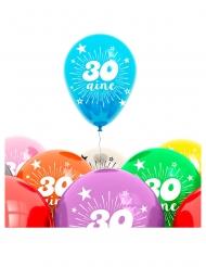 Zak 8 ballonnen 30 jaar