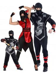 Familie ninja kostuums