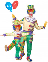 Clown koppel kostuum vader en zoon