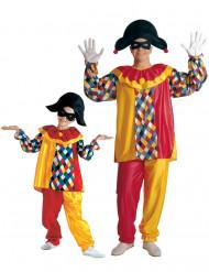 Harlekijn vader en zoon duo kostuum