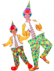 Duo clown kostuums ouder en kind