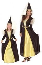 Prinsessen koppel kostuums voor moeder en dochter