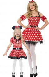 Minnie muizen duo kostuums voor moeder en dochter