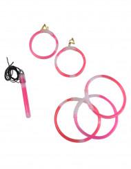 Roze fosforescerende sieraden