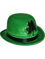 Groene bolhoed met klaver St Patrick's Day