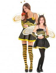Koppel outfit moeder en dochter bijen