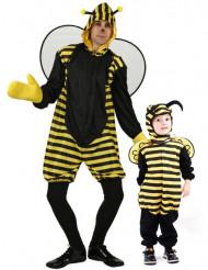 Bijen koppelkostuum vader en zoon