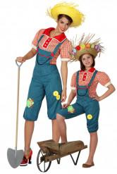 Set van twee boerinnen kostuums voor moeder en dochter