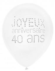 8 chique 40 jaar verjaardag ballonnen