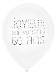 8 chique 60 jaar verjaardag ballonnen