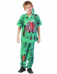 Groen zombie chirurg kostuum voor kinderen