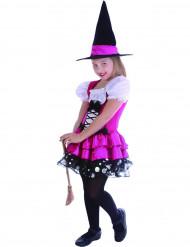 Roze fantasy heksen kostuum voor meisjes