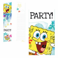 Set 6 uitnodigingen Sponge Bob™
