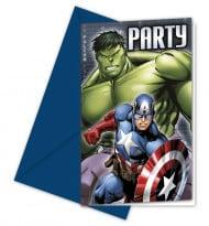 Set van 6 uitnodigingen The Avengers™