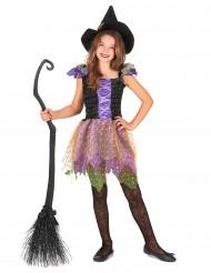 Kleurrijk lovertjes heks kostuum voor meisjes