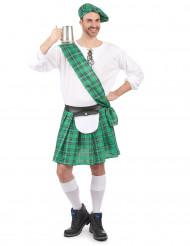Groen Schotse outfit voor heren