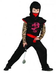 Zwarte ninja kostuum voor kinderen