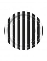 Zwart-wit gestreepte borden