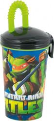 Beker met rietje van Ninja Turtle™