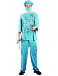 Bebloede chirurg kostuum voor volwassenen