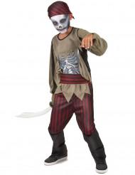 Zombie piraten skelet kostuum voor jongens