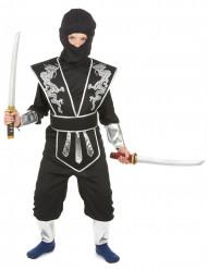 Zilverkleurige draak ninja pak voor jongens