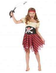 Zeeschuimer piratenpak voor meisjes
