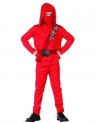 Rode ninja strijder kostuum voor jongens