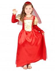 Rode middeleeuwse outfit voor meisjes