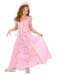 Roze en goudkleurige sterren prinses outfit voor meisjes