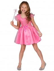 Roze prinses kostuum met strikje voor meisjes