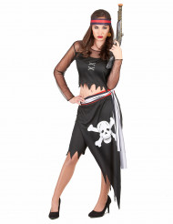 Sexy asymmetrisch piraten outfit voor dames