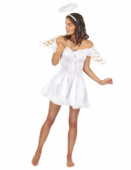 Sexy witte engel kostuum voor vrouwen