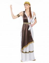 Wit en bruin Romeins kostuum voor dames