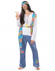 Hippie Flower Power outfit voor heren