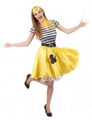 Geel jaren 50 kostuum voor dames