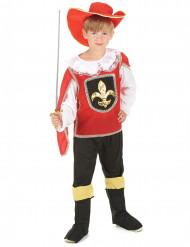 Rode musketier kostuum voor jongens