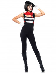 Sexy mime outfit voor vrouwen