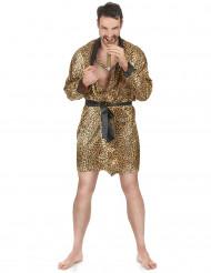 Pimp badjas in luipaard print voor mannen