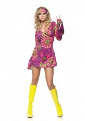 Sexy korte hippie jurk en hoofdband voor vrouwen