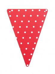 5 rood met witte stippen DIY kartonnen vlaggen