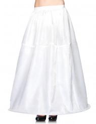 Lange witte rok voor dames