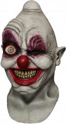 Halloween clown masker met enge knipoog
